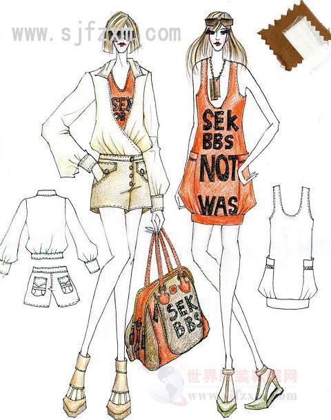 手绘服装效果图   女装手绘效果图 - 手绘服装 画   手绘服