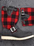 2010秋冬法兰绒毛呢机车靴