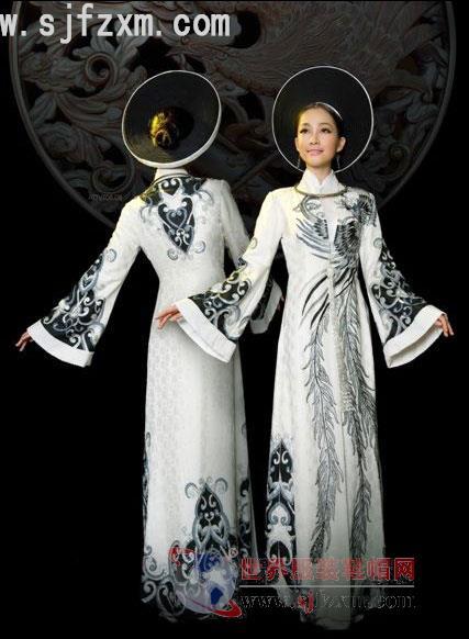 越南民族服饰之宫廷奥黛-世界服装鞋帽网-行业门户