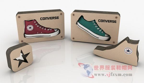 匡威创意瓦楞纸鞋架