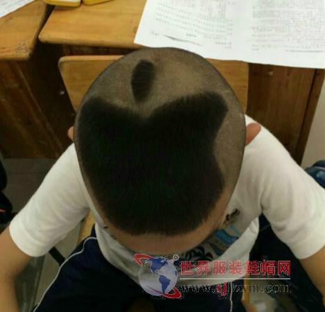 苹果发型炫酷 小学生呆萌造型走红图片