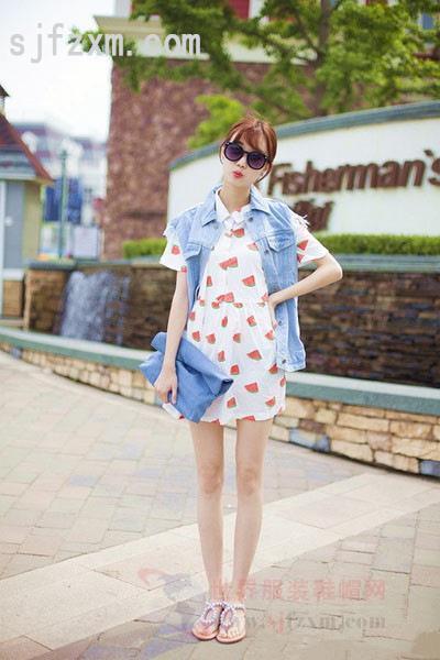 连衣裙针织衫搭配日本韩国欧美时尚街拍